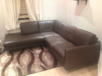 ***Quality L-Shape Leather Couch for Sale (2nd hand) First good offer takes it!***