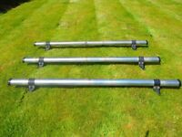 Rhino Delta 3 bar system roof bars for a Volkswagen Caddy 2004 - 2010 Maxi Twin Door Van