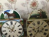 Grandfather clock faces