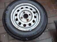 Ford Escort 13 inch steel wheel with new tyre 155 80 R13 Tigar