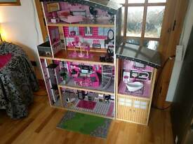 Large dollhouse with furniture