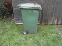Large Green Garden Wheelie Bin Refuse / Compost / Storage