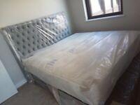 Super King Size Divan Ottoman Storage Bed with Free Mattress