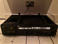 Classic Mitsubishi Record Player - Turntable, FM radio + tape deck with speakers