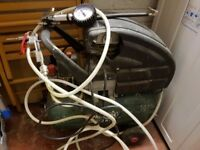 Parkside Air Compressor with air hose and various attachments. Good working order.