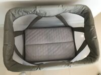 Nuna Travel Cot - as new - for sale by grandparents
