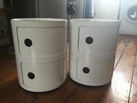 Kartell Componibili 2 Tier Circular Storage Unit in white, great condition, (RRP £71)