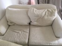 Free Two Seater white sofa