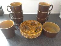 Ridgeway golden amber tea/coffee set