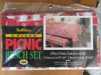 NEW - 3 piece picnic bench set cover (pay what you want)