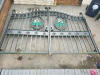 Decrative large set off wrought iron gates
