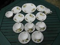 Crown Royal Bone China tea set