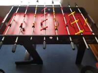 Rapid fire folding table football