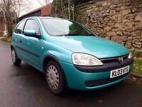 2003 Vauxhall Corsa Club 1.0 3Door. ONLY 91k Miles. Drives Superb.