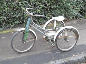 Vintage child's chain driven 3 wheeler tricycle