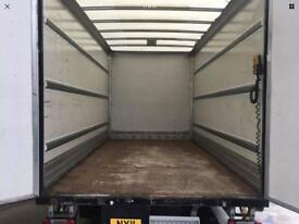 Urgent removal man with van,van hire (big Luton van with tail lift)with driver from £25p/h*