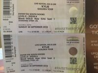 2 x Gold Circle Kylie Tickets for sale