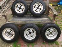 Classic mini alloy wheels and tyres