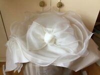 Marks & Spencer pretty cream mix hat for wedding / any social function