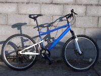 memens bike 26'' white blue