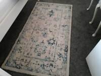 Vintage rug blue cream