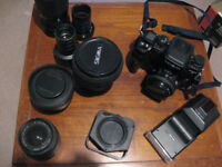 Minolta Dynax 9 Camera with lenses