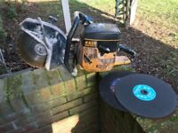 Partner K650 Active 2 petrol disc cutter with diamond blade & 2 spare discs!