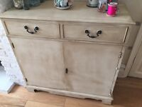 Small sideboard with lockable cupboard