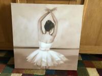 Ballerina canvas picture