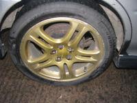 """Subaru Impreza WRX Turbo 2000 Gold 17"""" Alloy Wheels & Tyres"""