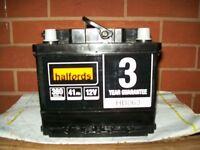 12v halfords car battery