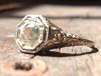 *1920s Antique/Vintage .80CT Diamond Engagement Ring*