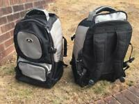 2 x Wheeled Suitcase Backpack Carry On Luggage Suitcases
