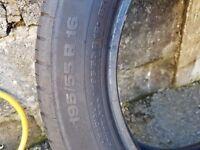 Part worn Continental tyre