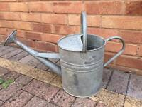 Vintage Galvanised watering can, 2 gallon.