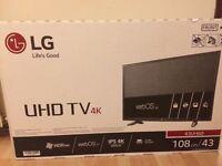 Brand new LG 43inch 4K HD TV