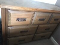 Solid Wood Chest of Drawers x2