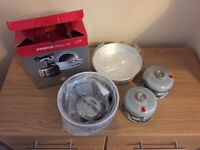 Camping stove and gas bottles