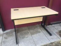 1.2m straight ash office/workshop desk