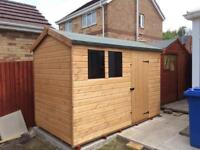 8x6 (HI-PEX) APEX ROOF GARDEN SHEDS £439.00 ANY SIZE (FREE DELIVERY AND INSTALLATION)