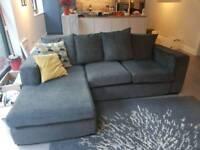 Grey chaise corner sofa