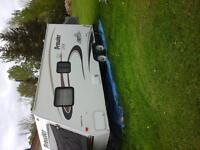 Prowler trailer with 2 Tip out tent