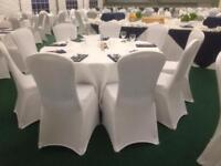 Used white wedding chair covers for sale