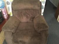 Brown cord Recliner sofa set 3 & 1