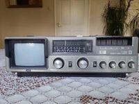 JVC CX _500me 1980s Vintage Portable TV, Radio Cassette . Collectors Item