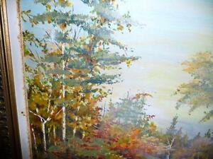 "Regina Hayward, Original Oil Painting ""Autumn Path"" Stratford Kitchener Area image 3"