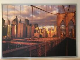 New York photo mounted with frame