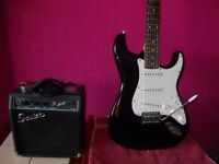 Fender Squier Strat with Squier SP10 Amplifier