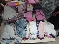 Carboot joblot Bundle of 129 items girls clothes newborn to age 3 years