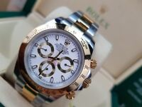 Rolex Daytona, TwoTone with white face. Box and paperwork included. £140